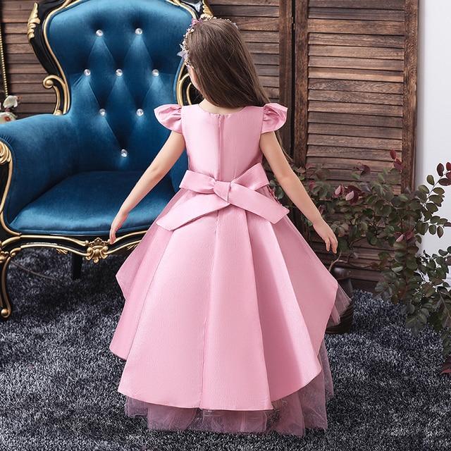 Wedding Tulle Lace Long Girl Dress  3