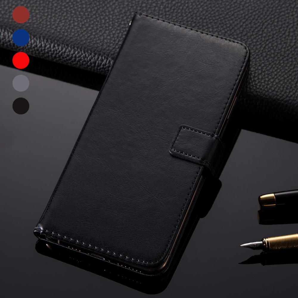 Leather Wallet Book Case Cover For LG Escape Plus G8X Thinq Q70 Motorola Moto E6 Plus E6s TCL PLEX Flip Phone Housing Case Cover