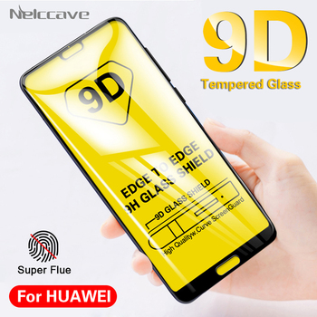 10Pcs 9D Curved Full Coverage Tempered Glass For Huawei P40 Lite E P30 P20 Pro P20 Lite 2019 P10 Plus P9 Screen Protector Film