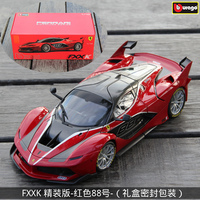 Bburago 1:18 Ferrari FXXK Red 88 car alloy car model simulation car decoration collection gift toy Die casting model boy toy