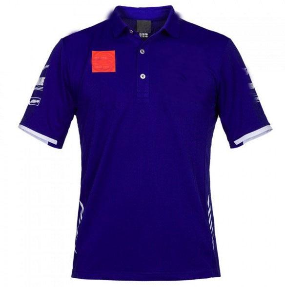Free Shipping  Motorsport Motorcycle Polo Shirt Moto Gp  Summer  Cotton T-shirt For YAMAHA Team Polo Shirt Mens