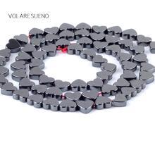 цены на Heart Shape Hematite Black Stone Loose Beads For Jewelry Making 8mm Spacer Beads Fit Diy Bracelet Necklace Accessory 15''Strand в интернет-магазинах