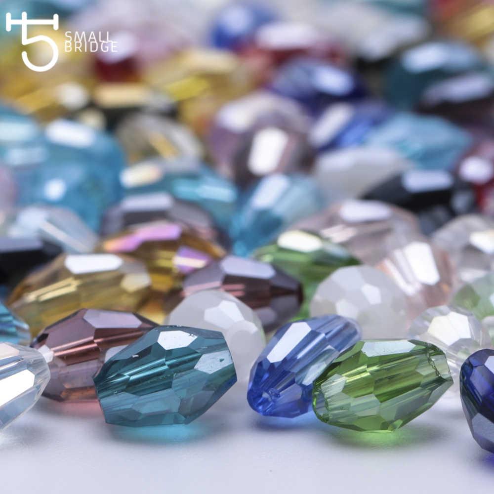 4*6mm Czech Mặt Hỗn Hợp Gạo Kính Hạt để Làm Đồ Trang Sức Vòng Cổ Phụ Nữ Diy Perles Hình Bầu Dục Hình Dạng Tinh Thể hạt Bán Buôn Y102