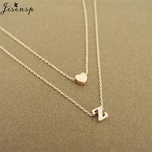 Jisensp-collier ras du cou pour femmes, avec initiales, lettres de nom, accessoires de bijouterie, cadeaux pour petite amie, A-Z