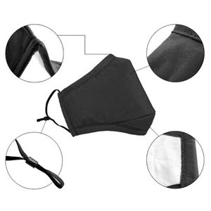 Image 4 - Anti Pollution Face Masks PM2.5 Mouth Mask Breathable Washable Cotton Dust proof Mouth Masks With 2 Replaceable Filters
