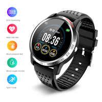 Intelligente Della Vigilanza Degli Uomini di Ecg Monitor di Frequenza Cardiaca Braccialetto Intelligente Attività Inseguitore di Fitness Sport IP67 Impermeabile Smartwatch per Android Ios