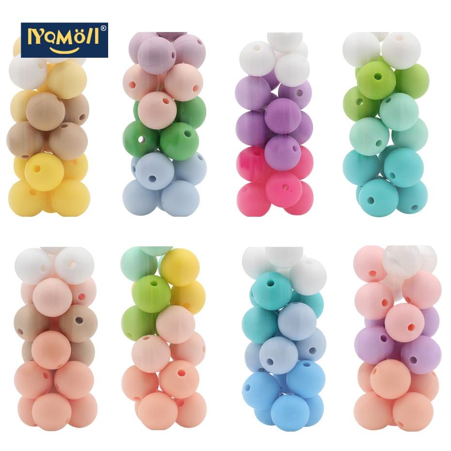 30 PC 12 Mm  Silicone Beads Pearl Silica Gel Ball Food Grade Dental Pearl DIY Nursing Bracelet Silica Gel Baby Teeth