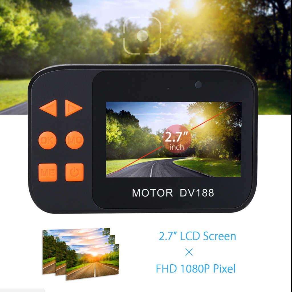 1 juego DV188 Cámara de Acción motocicleta FHD 1080P DVR videocámara 2,7 pulgadas LCD grabadora de vídeo 130 ° 2 impermeable cámara Multi-idioma