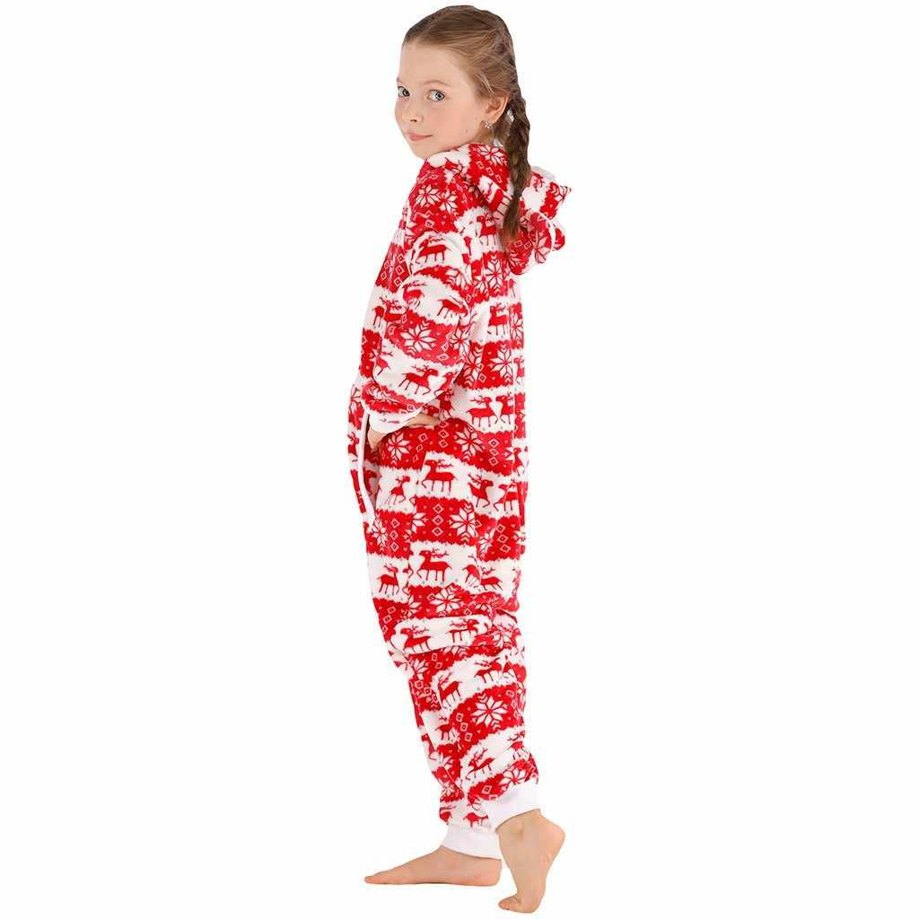 חג המולד איילים פלנל סלעית סרבל ילדי ילדה בגדי חורף חג המולד עבה חתיכה אחת בית פיג 'מה ארוך שרוול הלבשת חליפה
