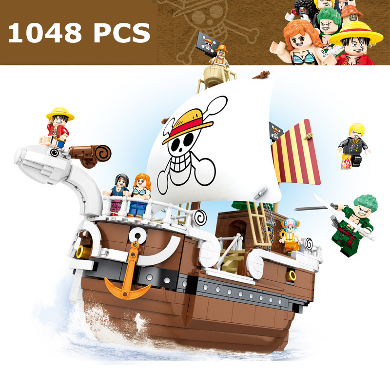 2020 NEW ONE PIECE Monkey D. Luffy Going Merry Pirate Ship Building Blocks Bricks Classic Model Kids Toys Compatible Anime movie