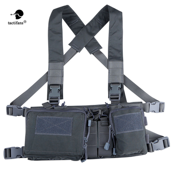 Tactical Chest Rig X koszulka na ramiączkach Carrier Armor Army Rifle Pistol Magazine Utility Belly Pouch akcesoria myśliwskie 5 56 7 62 tanie i dobre opinie Military Airsoft Hunting 500D N Flatpack D3CR Light weight Low profile Urban Vehicle Rural and Other Confined Settings