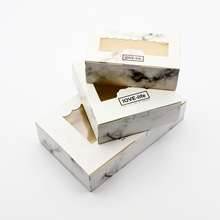 10 PCS Marble Box Window Gift Packaging Paper Boxes Wedding Party Decoration Favor Candy Cardboard