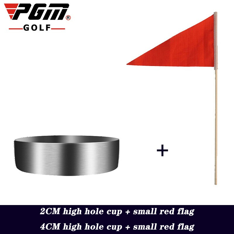 Professional Golf Hole Cup 2CM 4CM+ Small Red Flag 304 Stainless Steel Green Sports Training Supplies Golf Accessories PGM 2020