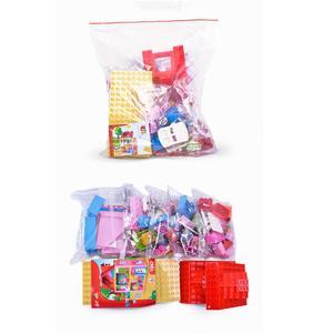 Image 2 - Gorock 78個大型ピンクヴィラ女の子ビッグビルディングブロックセット子供duploe diyレンガと互換性モデルのおもちゃ子供のための