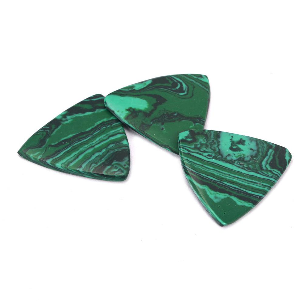 New Arrival Triangle Malachite Stone Picks For Acoustic Classical Electric Guitar Bass Accessories