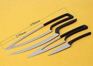 Image 4 - XITUO nóż kuchenny 4 szt. Zestaw wielu narzędzi do gotowania stal nierdzewna trwały nóż szefa kuchni jadalnia i Bar unikalny specjalny projekt zestaw noży