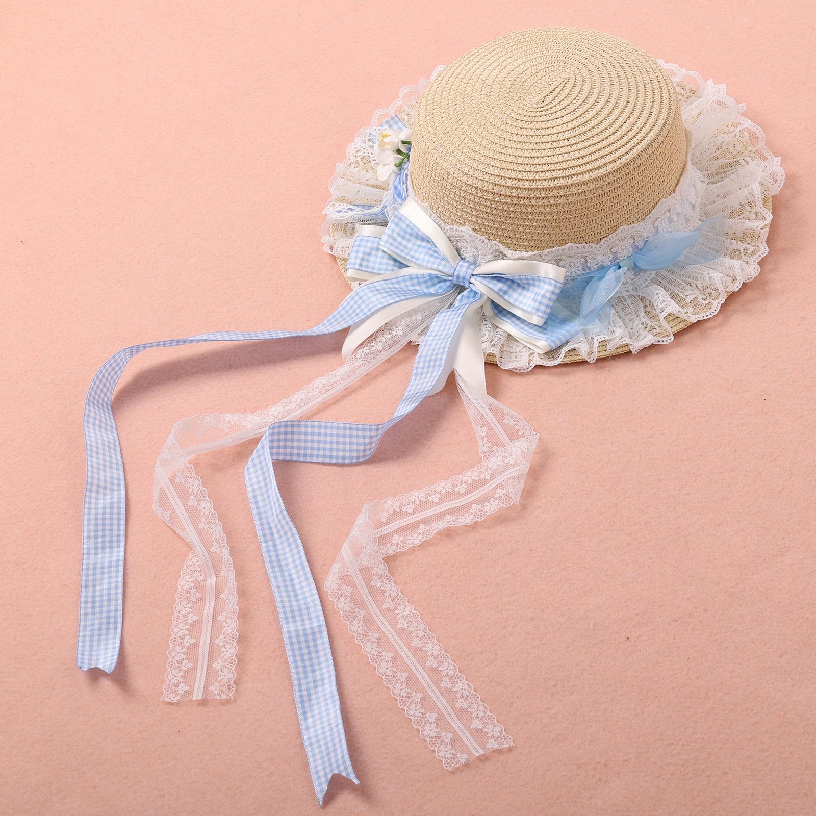 Lace Flower Elegant Beach Summer Garden Dome Straw Cute Lovely Lady Girl Hats
