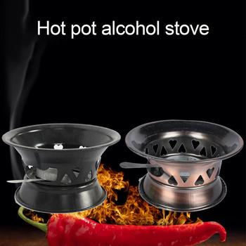 Mini Outdoor Camping BBQ Solid Alcohol Stove Household Spirit Burner Decoration image