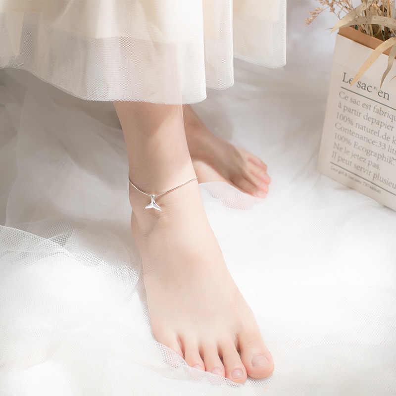 Trusta 100%, Настоящее серебро 925 пробы, Модные женские ювелирные изделия, хвост русалки, 23 см, ножные браслеты для девушек и женщин, хорошее ювелирное изделие DS1153