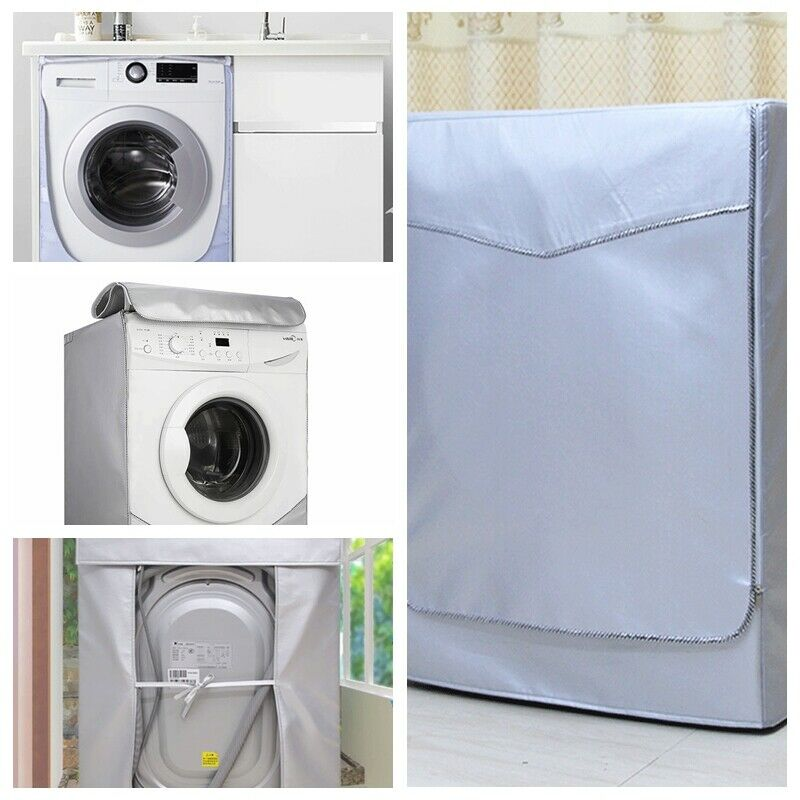 Washing Machine Cover For Front Load Washer & Home Sunscreen Laundry Dryer Waterproof Dust Proof Case Protective Dust Jacket