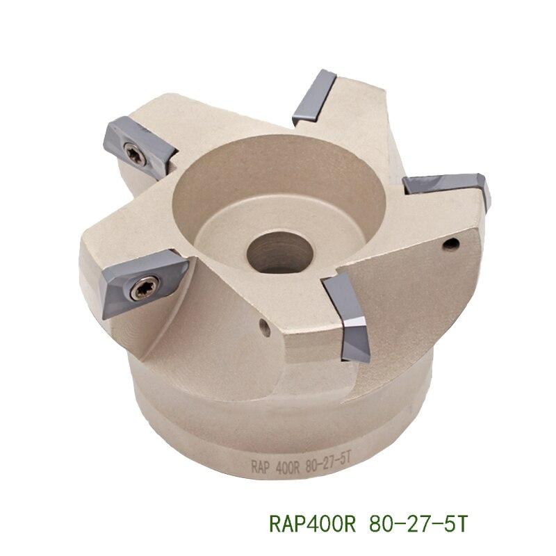 RAP300R 50 22 4T RAP300R 63 RAP400R 75 Degree Face Mill Head CNC Milling Cutter Milling Shell Face Mill