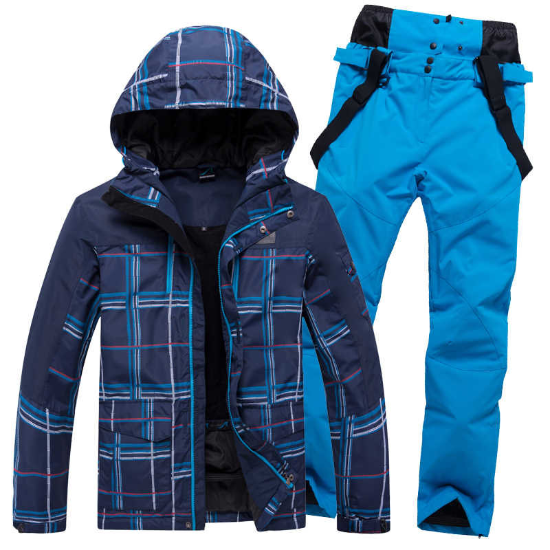 Skipak Mannen Winter Warm Winddicht Waterdichte Outdoor Sport Sneeuw Jassen en Broek Hot Ski Apparatuur Snowboard Jas Mannen