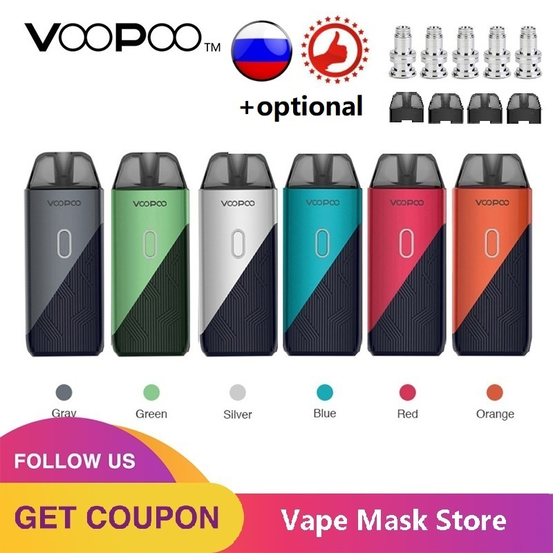 Original VOOPOO FIND TRIO Pod Kit With 1200mAh Battery & 3ml Pod & 0.8ohm / 1.2ohm PnP Coil E-cig Vape Kit Vs Vinci X /Drag Nano