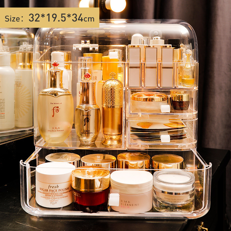 2021 New Cosmetics Storage Box Transparent Integrated Acrylic Eyebrow Pencil Lipstick Skin Care Products Storage And Finishing