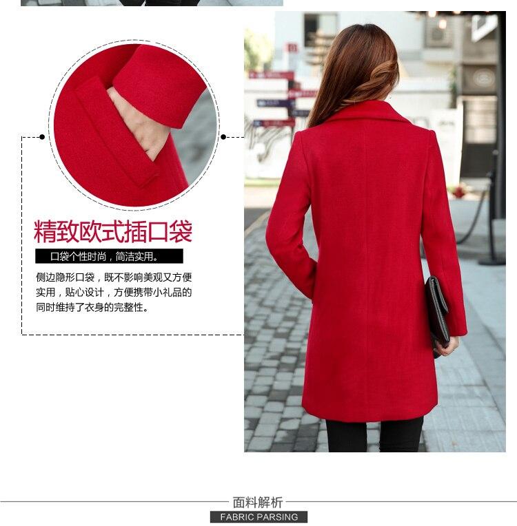 YICIYA Winter autumn Coat Women Wool Jacket Long Oversized Coats Plus Size Large Black Blend Woolen Warm Outerwear 2019 Clothing 22