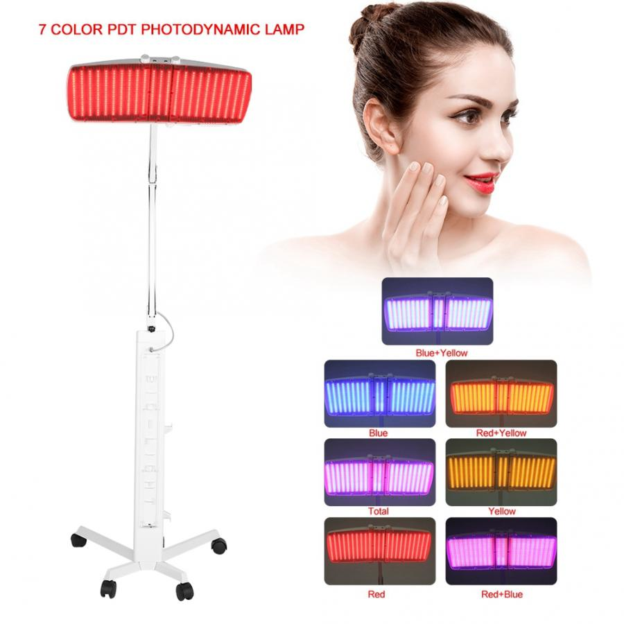 Powerful  7 Color Photon Led Therapy Lamp For Wrinkle And Acne Removal Skin Rejuvenation