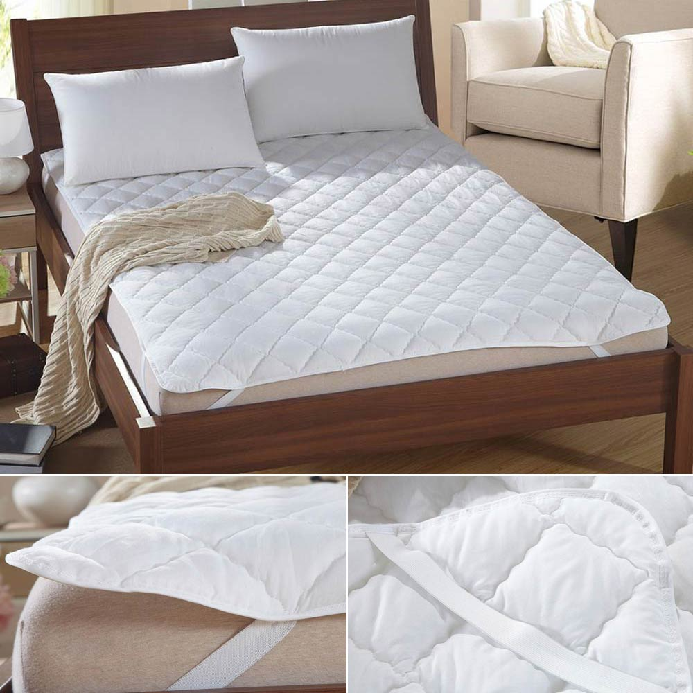 Svetanya White Mattress Topper Multi-size Mattress Cover