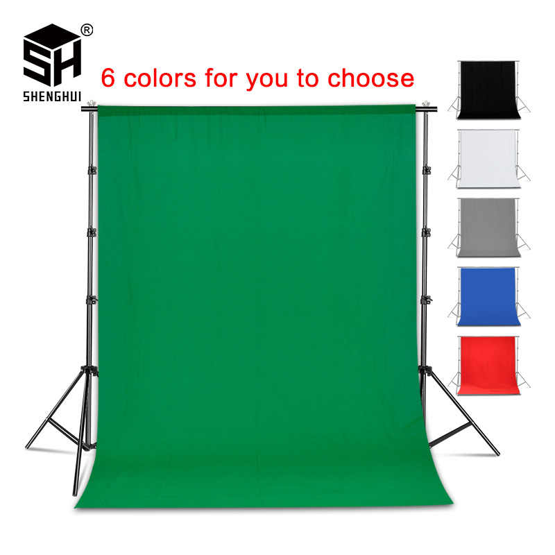Fotografia di Sfondo Sfondo Liscio Mussola di Cotone Verde Chromakey Schermo Cromakey Background Cloth Per Photo Studio Video