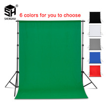 Photography Background Backdrop Smooth Muslin Cotton Green Screen Chromakey Cromakey Background Cloth For Photo Studio Video cheap Hand Painted Solid Color SH-BJB-02 Black White Green Blue Gray Photography Video Television chroma key background 1 8x2 8m 2x3m 3x3m 3x4m 3x6m