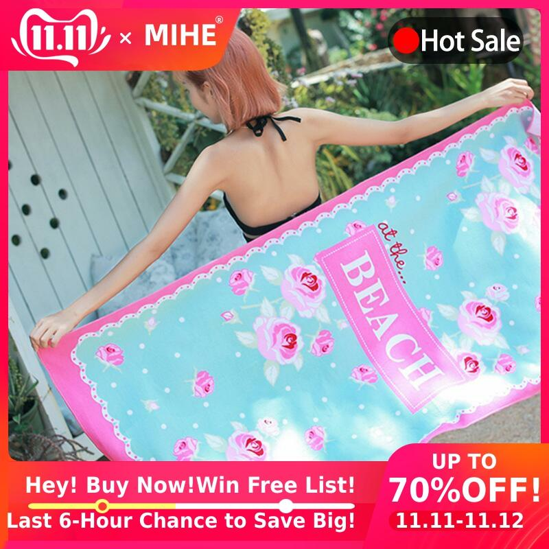 MIHE Printed Cartoon Beach Towel Microfiber Quick-Drying Bath Towel Summer Outdoor Camping Swimming Shower Yoga Sport Towel