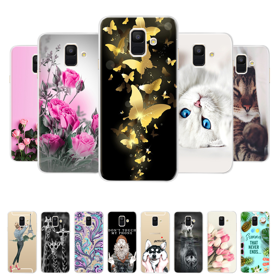 Case For Samsung Galaxy A6 2018 Transparent Cartoon Soft TPU Silicone Phone Cases Back Cover For Samsung Galaxy A6 A 6 Plus 2018