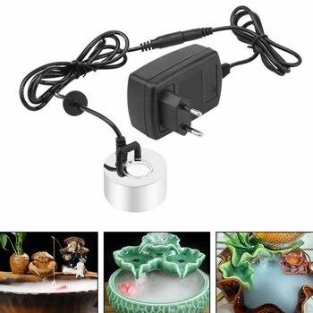 Ultrasonic Mist Maker Fogger Water Fountain Pond Atomizer Air Humidifier EU Plug