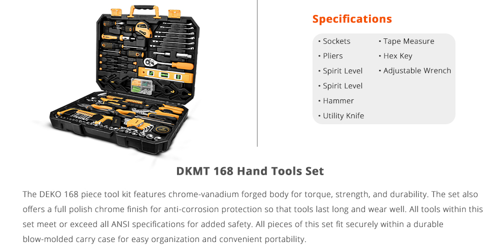 Deko DKMT 168 Specification