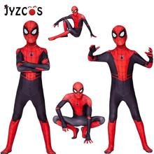 JYZCOS Spiderman Heroes Expedition Tights Superhero BodysuitKids Spider Man Cosplay Costume Suit Jumpsuits Halloween