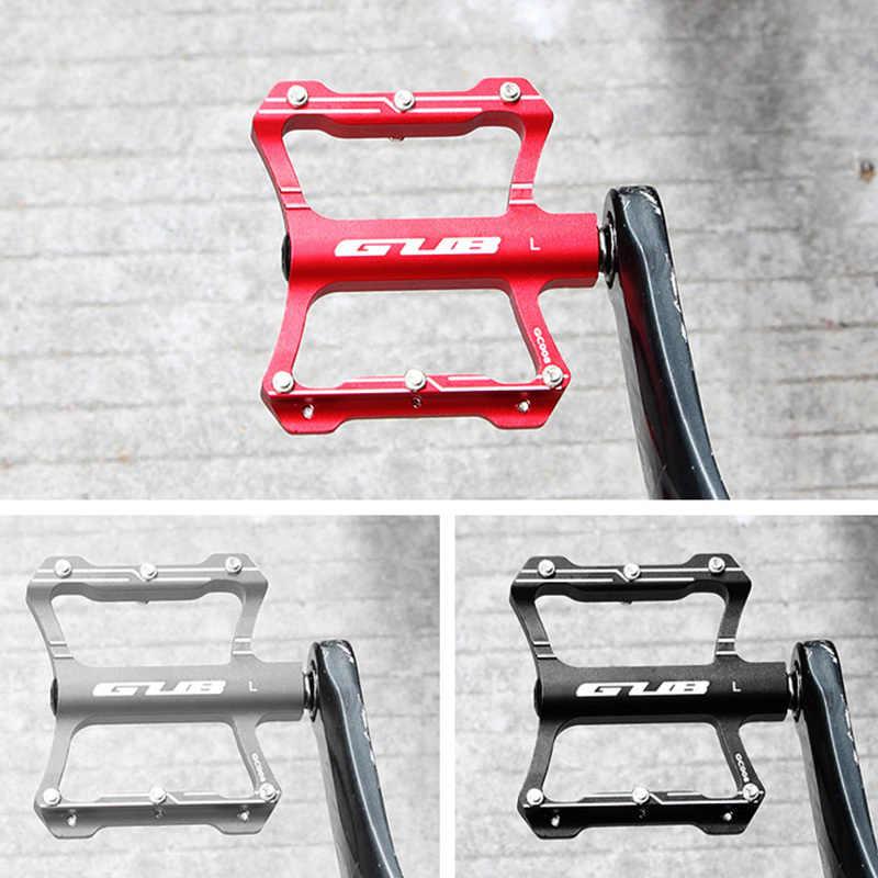 Велосипедные педали GUB, ультралегкие велосипедные педали из алюминиевого сплава, с плоской платформой, с уплотнением подшипника, 2 шт., для горных велосипедов