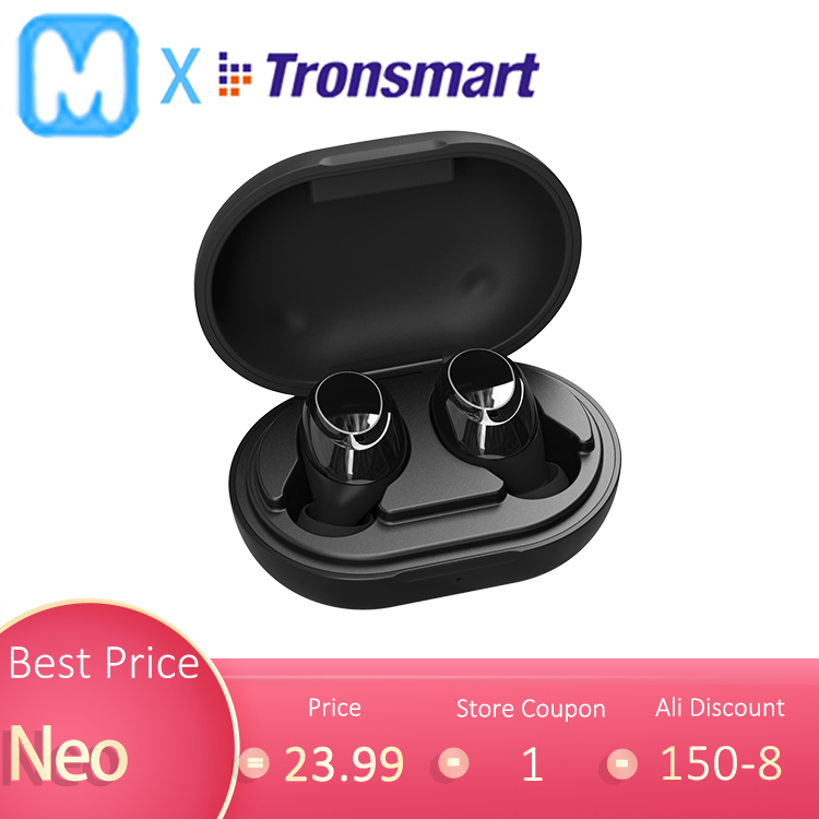 Tronsmart Earphone TWS Volume-Control Aptx Bluetooth Wireless Earbuds Playtime Mobase title=
