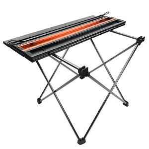 Image 4 - Tavolo da campeggio pieghevole portatile tavolo pieghevole scrivania campeggio Picnic allaperto 6061 lega di alluminio mobili da esterno ultraleggeri