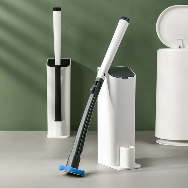 Disposable Toilet wand Cleaning Brush