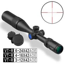 VT-R a prueba de golpes 3-12 x42 AOE caza táctica alcance utilizado para Rifle PCP Airsoft