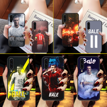 Gareth bale futebol caso do telefone capa para samsung galaxy a10 a20 a30 e a40 a50 a51 a70 a71 j 5 6 7 8 s preto pintura escudo pára-choques