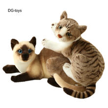 Simulação American Shorthair Cat gato Siamês Animais boneca de Brinquedo de Pelúcia Recheado De Pelúcia realistas brinquedos para Crianças Brinquedo de Estimação Decoração