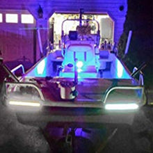 "2Pcs 9.2"" Boaton White / Ice Blue LED Light Boat Bow Pontoon Kaya"