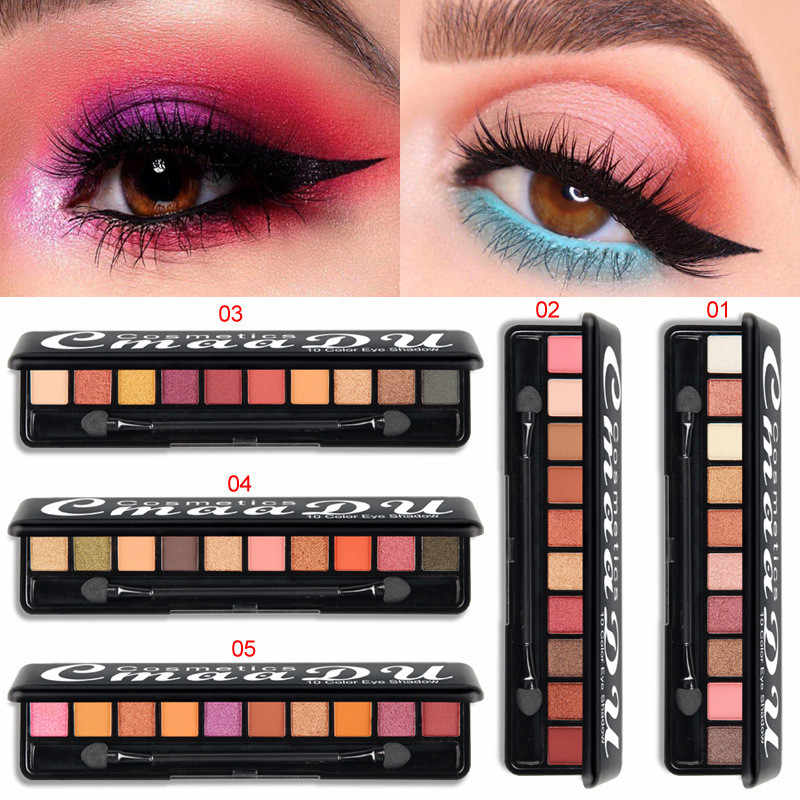 10 Colors Matte Fashion Eye Shadow Palette Makeup Natural Durable Waterproof Glitter Eye Shadow Makeup Nude Makeup Set Cosmetics