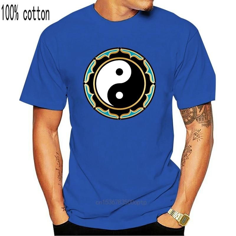 Футболка с лотосом Инь Янь Топ китайский символ медитация дзен религиозное благосостояние подарок забавная футболка|Футболки| | АлиЭкспресс