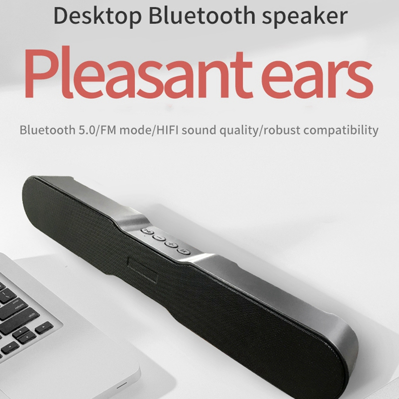Bluetooth 5.0 Soundbar Wireless Speakers for Home Theater Surround Stereo 1500Mah 10W for TV/PC/Phone