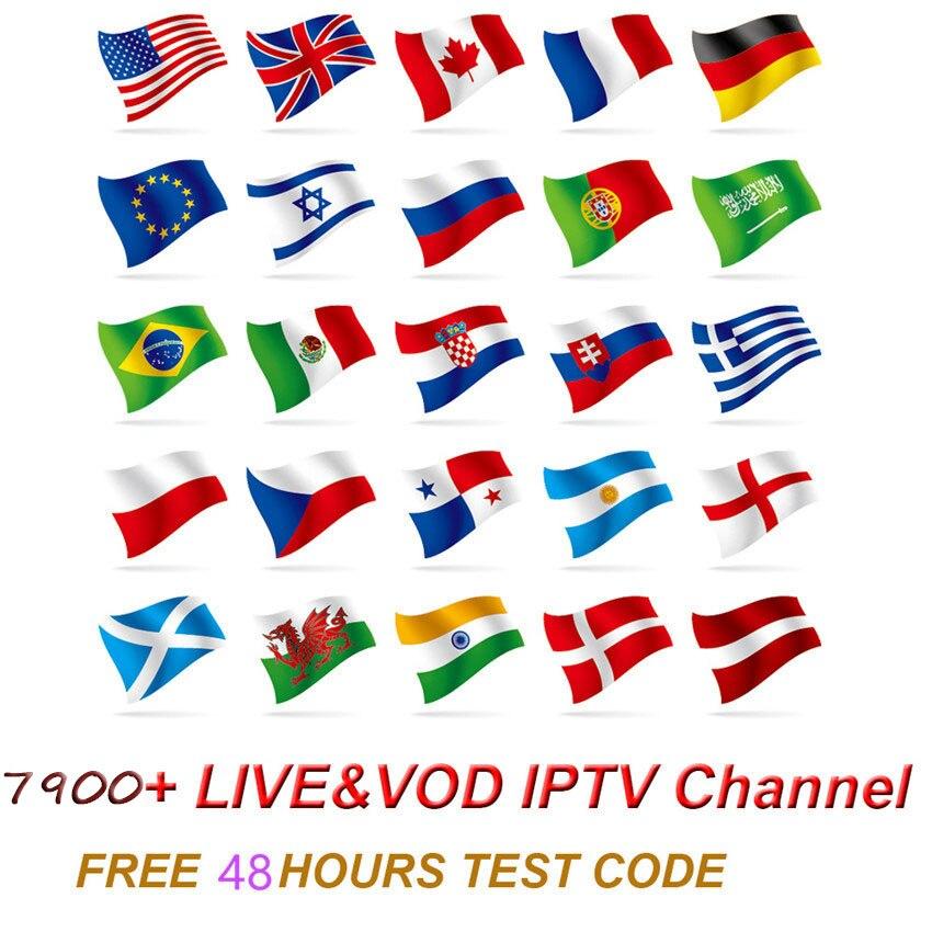 Quality World Android Box Iptv H96 Max 4g Subscription 8000+Live M3U MA9 Spanish  French English Sweden Canada USA UK  Arabic